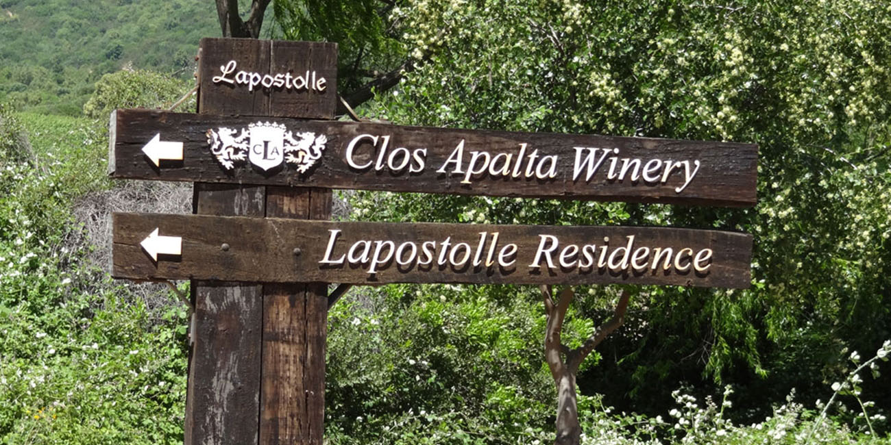 Clos Apalta Lapostolle Winery Sign