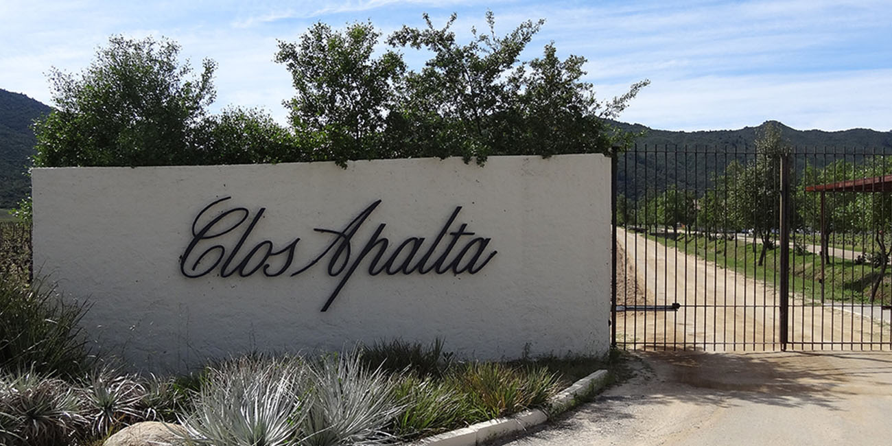 Clos Apalta Gated entrance