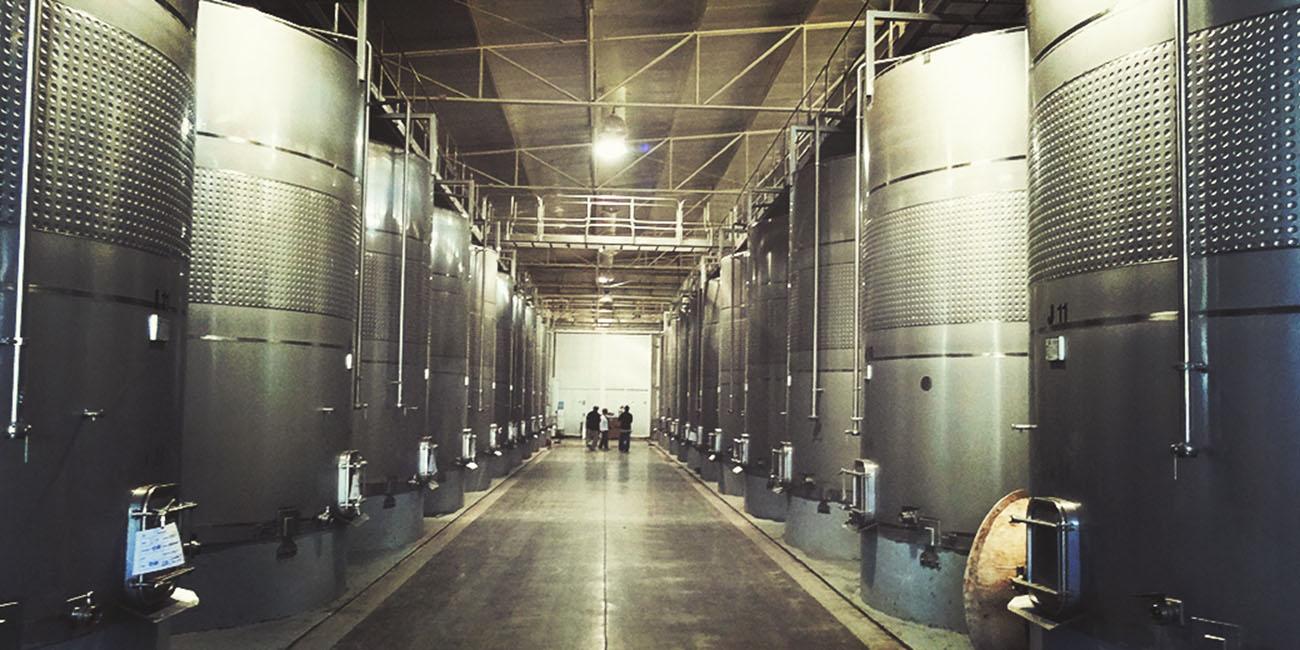 Los Vascos Winery Stainless Steel Tanks