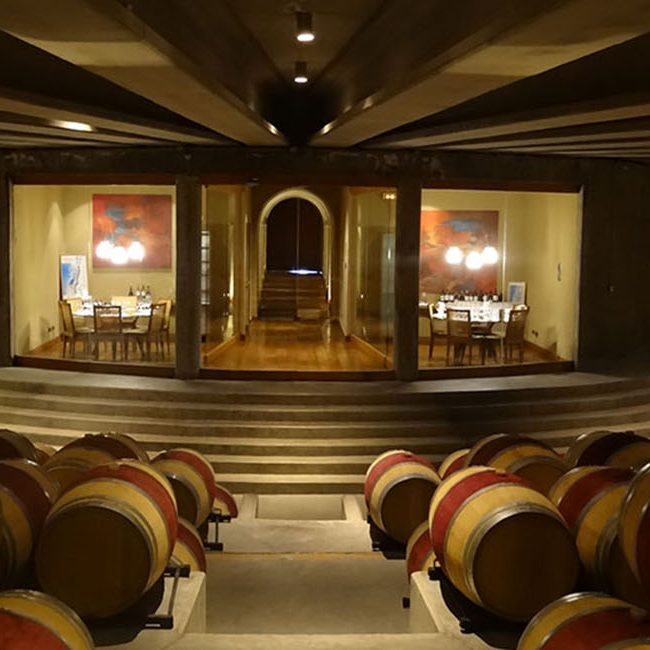 Montes Wine Barrel Room