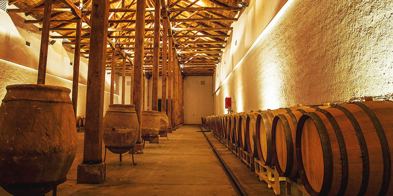 Neyen de Apalta Winery Barrels