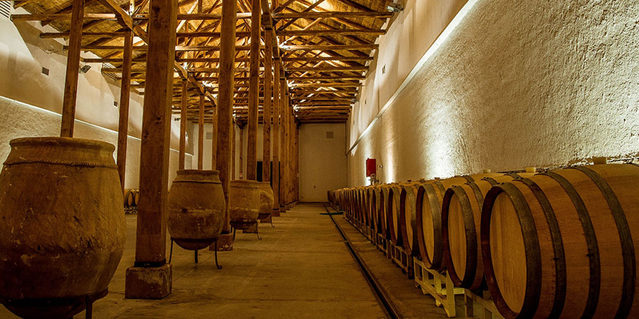 Neyen Winery Barrels