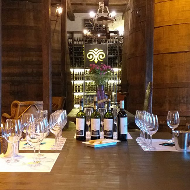 Viu Manent Winery Cava Room Wine Tastings