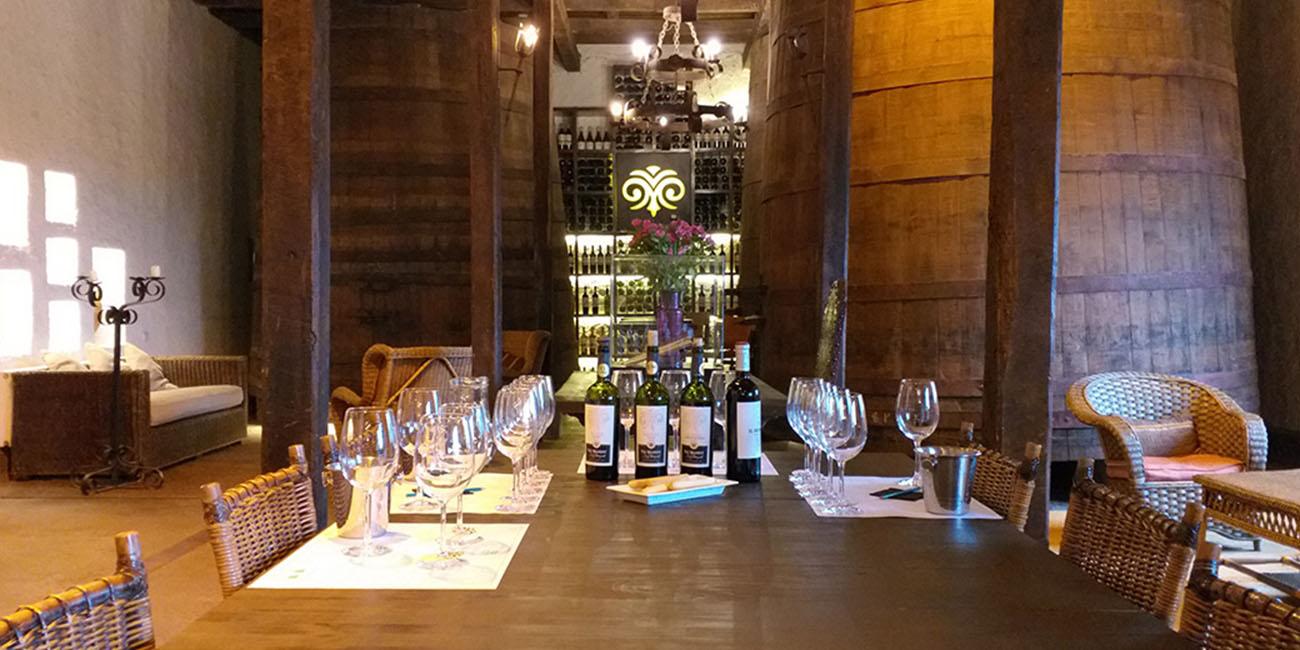 Viu Manent Winery Cava Room Wine Tastings