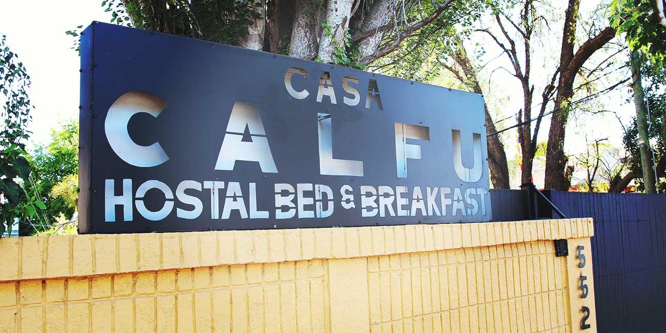 Casa Calfu Sign